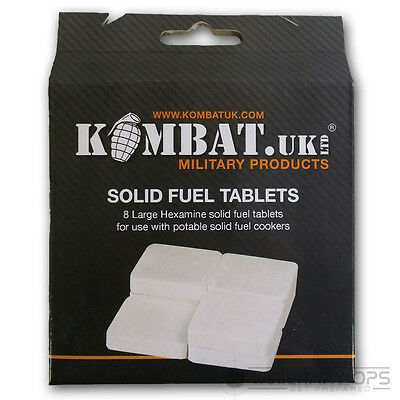 Kombat Uk Cooking Stove Hexamine Fuel Tablets British Army Style Ration Pack