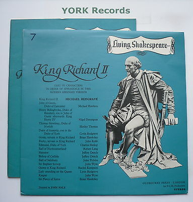 LIVING SHAKESPEARE - Richard II *WITH BOOK* - Excellent Condition LP Record