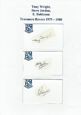 T Wright, S Jordan & E Robinson Tranmere Rovers Reserves Original Signed Cutting