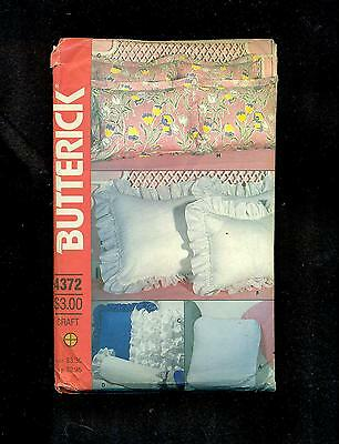 BUTTERICK SEWING PATTERN 4372 - Pillow cases; shams, neck roll, wedge; reading,