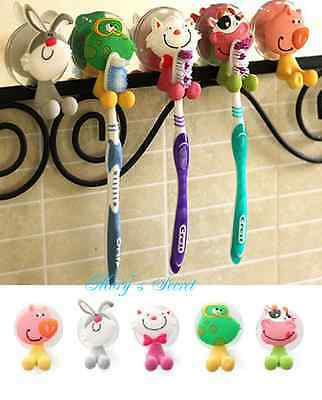 1 or 5pcs Super Cute Cartoon Sucker Toothbrush Holder / Suction Hooks Hot-sale
