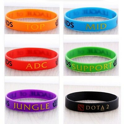 League of Legends LOL Colorful Silicone Wristbands Hand catenary Theme Bracelets
