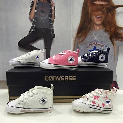 Converse First Laces All Star Culla Neonato Tela Originali Garantite Italia 2017