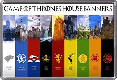 Game of Thrones Fridge magnet, Unique Design, House Banners - Great Gift