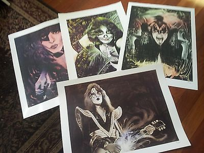 Gene Simmons KISS signed and numbered limited edition print SET ONLY 100 made!