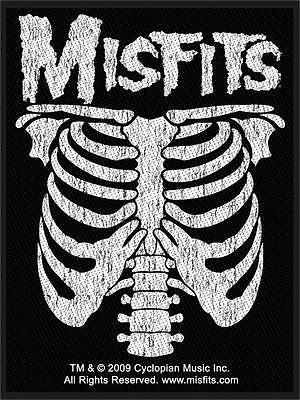 Misfits - Rib Cage Patch - Brand New - Music Band 2378