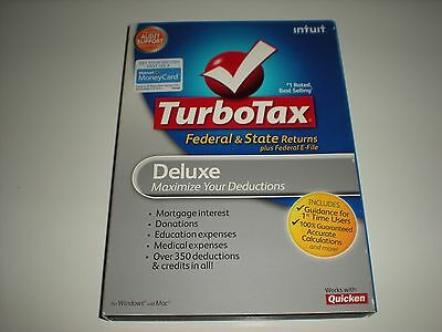Turbotax 2010 Deluxe with state. Turbo tax.  New.
