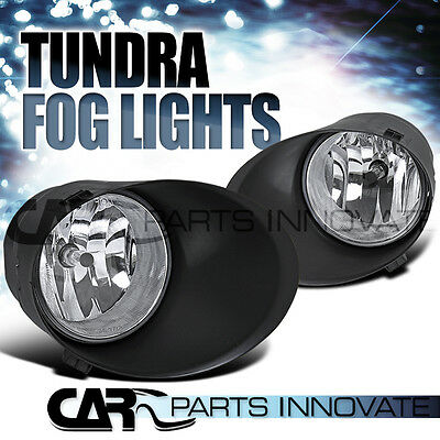 07-13 TUNDRA 08-11 SEQUOIA CLEAR FOG DRIVING LIGHTS BUMPER LAMP+H10 BULBS+SWITCH