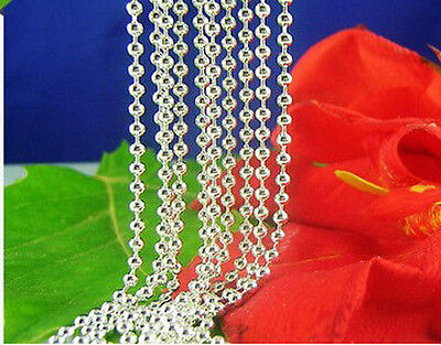 """1pcs S80 Silver ball Chain Necklace 24"""" K231-24-1"""