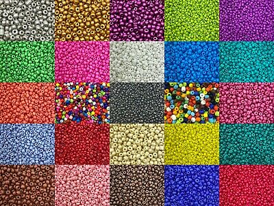 50g glass seed beads - Opaque, size 6/0 (approx 4mm) - choice of colours, craft