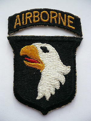 Original WW2 101st Airborne Division Type 15 Patch & Matching Tab.