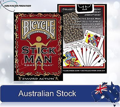 BICYCLE Stick Man Poker Playing Cards Deck Sword Action Brand New & Sealed