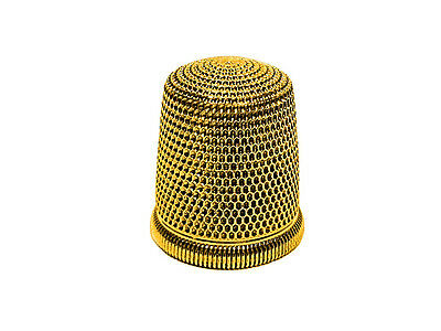 Simon Brothers Co.solid 14K Gold Thimble ~ Size 10 ~ No Mono