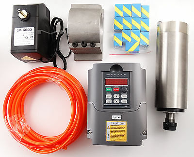 CNC 2.2KW Spindle Motor 220V+Variable Frequency Driver VDF+ ER20+Water-pump  -DE