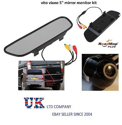 mercedes vito viano 5 inch rear view mirror rear reverse parking camera