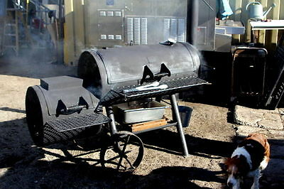 Wood Burning Commercial SMOKER heavy duty made by BRINKMAN on wheels