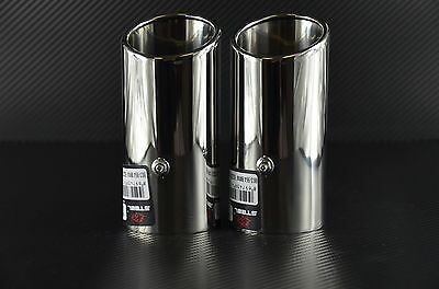 Bmw E46 Chrome Exhaust Tailpipe Stainless Steel 2 Pieces