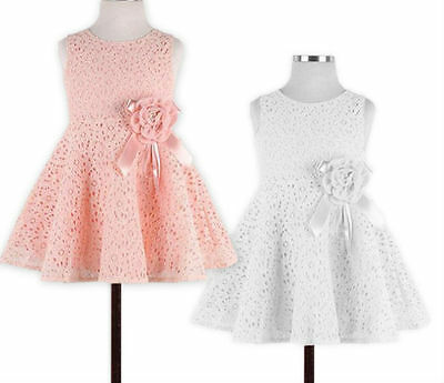 Baby Girl Princess Birthday Bridesmaid Christening Party Wedding Lace Dress