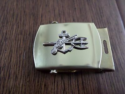 U.s Navy Udt Silver Insignia Solid Brass Belt Buckle Made In The U.s.a