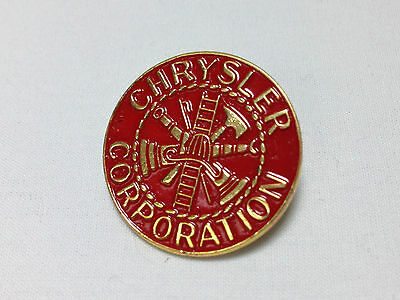 Vintage CHRYSLER CORPORATION FIRE DEPARTMENT PIN BADGE