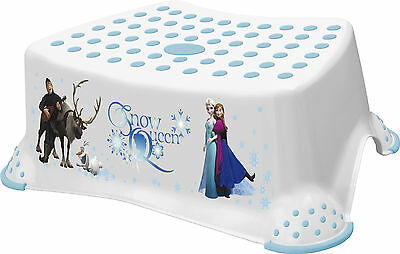 Disney FROZEN Toddler Toilet Training Non Slip Step Stool 14cm High - White