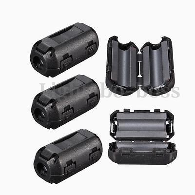 10pcs TDK 5mm Clip On EMI RFI Filter Snap Around Ferrite Core Cable