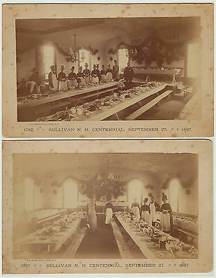 RARE -  LOT of 2 -  1887  Photos - Sullivan NH Centennial - New Hampshire