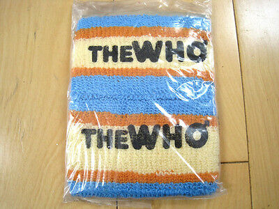NEVER WORN!! 80s vintage THE WHO SWEAT BANDS wrist band BRACELET must see WOW!!