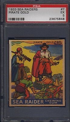 1933 R124 Sea Raiders #7 Pirate Gold Psa 5