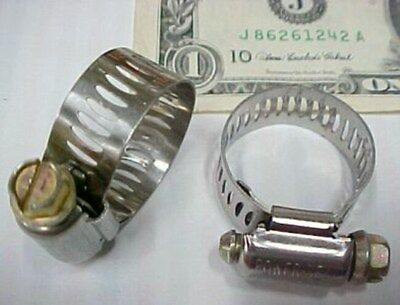 """Box 10 Breeze Industrial Stainless Hose Clamps 1/2"""" - 1-1/32"""" Worm Gear Heavy D."""