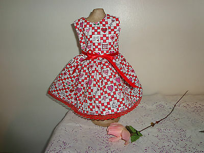 doll dress for 18 inch american girl valentine day nine patch rare 120