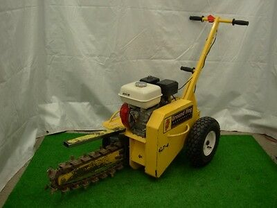 "Ground Hog 18"" Gas Trencher Digger Honda Excavator Electric Line Fence Installer"