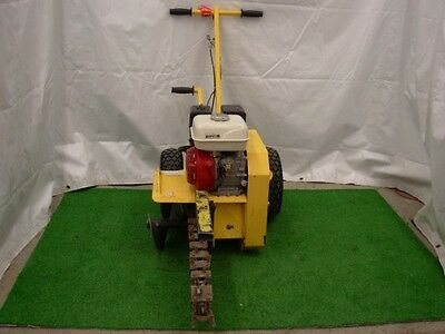 "Ground Hog T-4 18"" Walk Behind Gas Trencher Honda Engine Digger Excavator Used !"