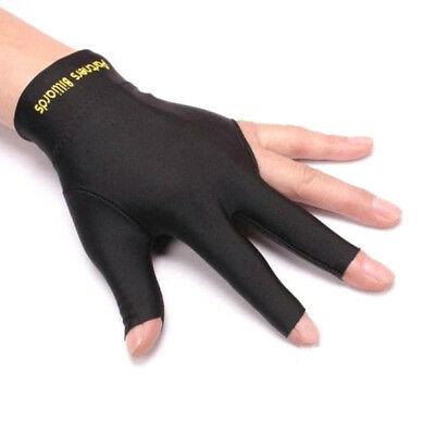Professional Black Spandex Shooter Pool Billiards Cue 3 Three Finger Glove