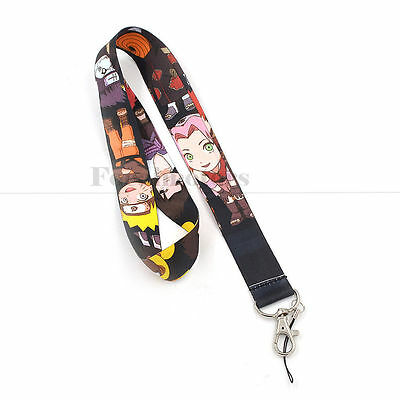 Naruto Neck Lanyard Nylon Strap For Cell Mobile Phone ID Card  Anime 2017 New