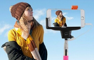 Extendable Monopod Selfie Stick Built in Remote Shutter Button With Wire Control