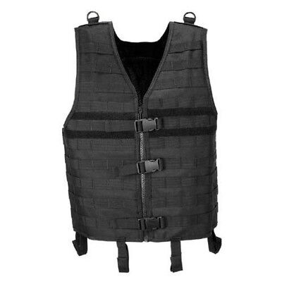 Tactical Army Adjustable Vest Molle Light Modular Combat Airsoft Paintball Black