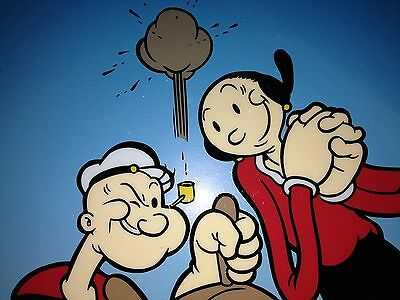 Popeye and Olive Oyl, Limited Edition Sericel at the wheel