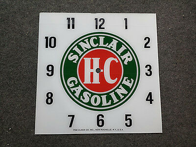 """*NEW* 15"""" SINCLAIR HC GASOLINE GAS OIL GLASS replacement clock FACE FOR PAM"""