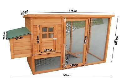 Chicken Coop Rabbit Hutch Cage Guinea Pig Ferret Hen House Hutch Brand New
