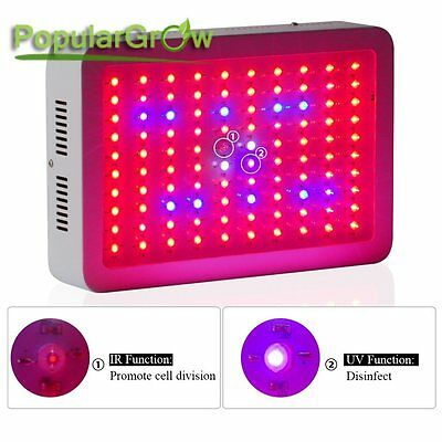 2PCs 300W Full Spectrum LED Grow Light Indoor Hydroponic Plants Veg Flower Lamp