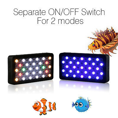 2PCs Dimmable 165W LED Aquarium Grow Light For Fish Tank Reef Coral Marine lamp