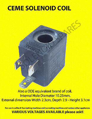 Ceme Solenoid Coil for Coffee Espresso Machine All voltages. Ode