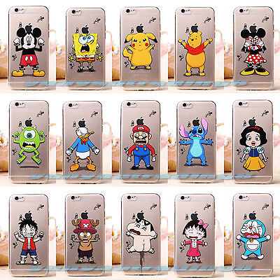 0.3mm Ultrathin Cartoon Disney Magic Flying TPU Soft Transparent Case For iPhone