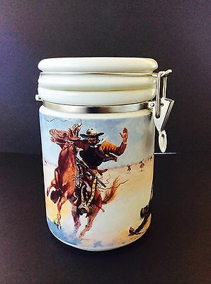 """RARE Chaleur Zengo SPIRIT OF THE WEST Large 8"""" CANISTER Jar Never Used *NOS"""
