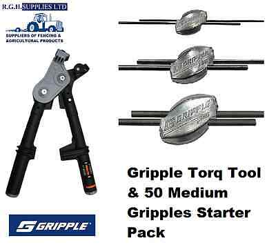 Gripple Plus Starter Pack Kit Wire Tensioning Torq Tool + 50 Medium Wire Joiners