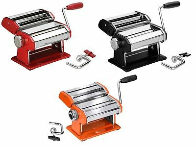 Chrome Pasta Maker Machine Stainless Steel Blade Manual Handle For Home Kitchen