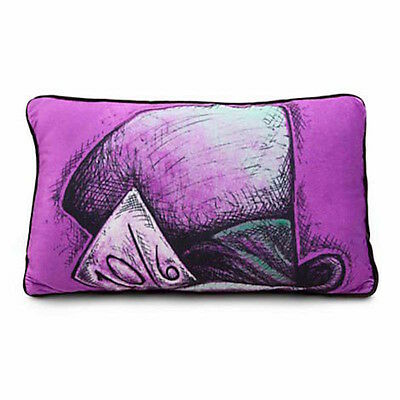 disney parks alice in wonderland mad hatter pillow new with tag