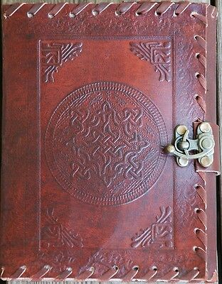 Handmade Celtic Tooled Leather Blank Journal Diary Sketch Notebook Book (566-WL)