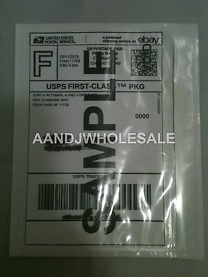 50.Pcs Clear Packing List Postage Shipping Label Envelopes 7x5.5 Self Adhesive